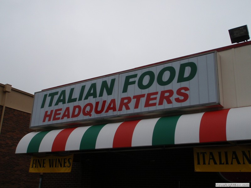 Business Awning for Italian Food