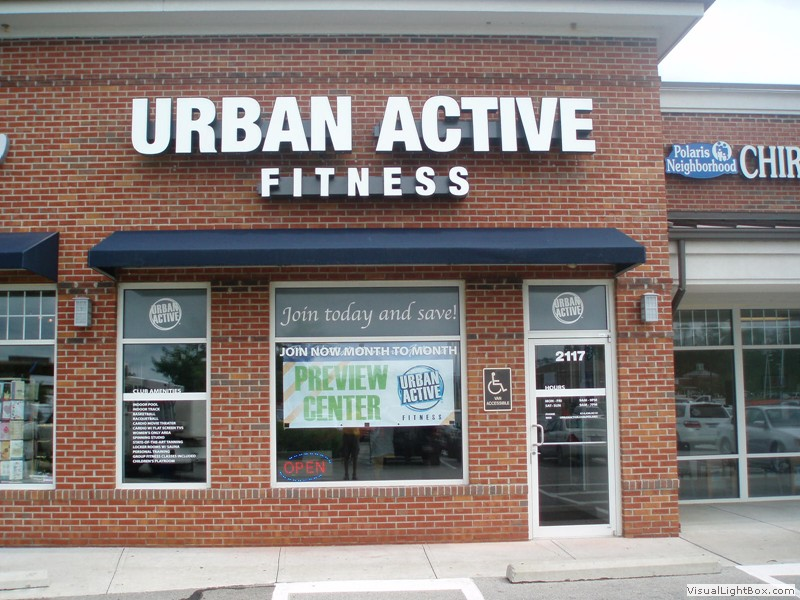 Business Awning for Urban Active Fitness