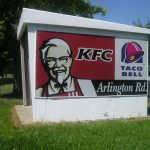 KFC and Taco bell on Arlington Rd.