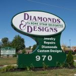 Ground Sign for Diamond Seller