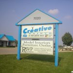 Creative Paints sign