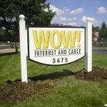 Westerville, OH commercial ground sign