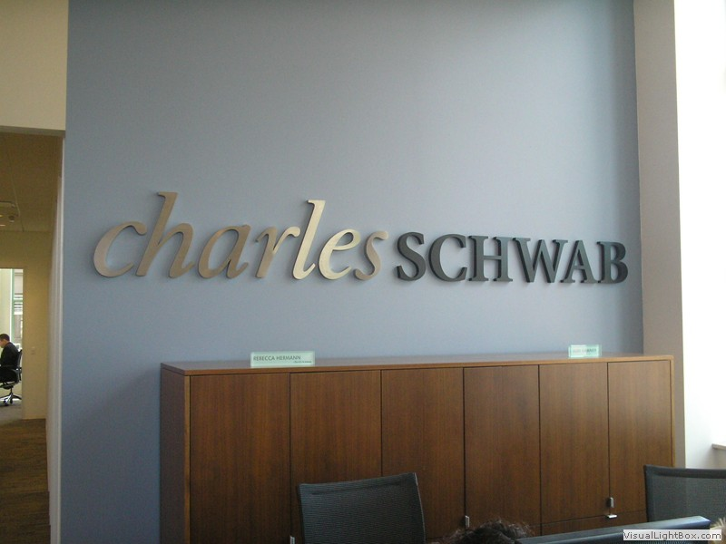 Custom wall logo and wall lettering