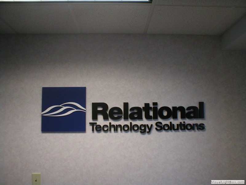 Custom business sign for technology company