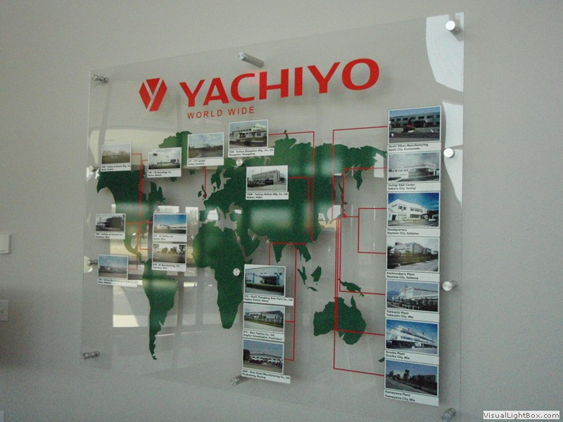 Interior sign for Yachiyo