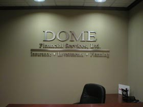 Moore Signs Dome Interior Wall Sign