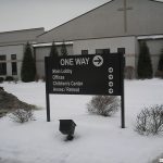 Aluminum Ground Sign for church