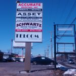 Ground signs for shopping center
