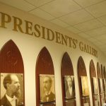 Custom created wall signs for president's gallery