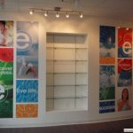 Custom layout for wall graphic signs